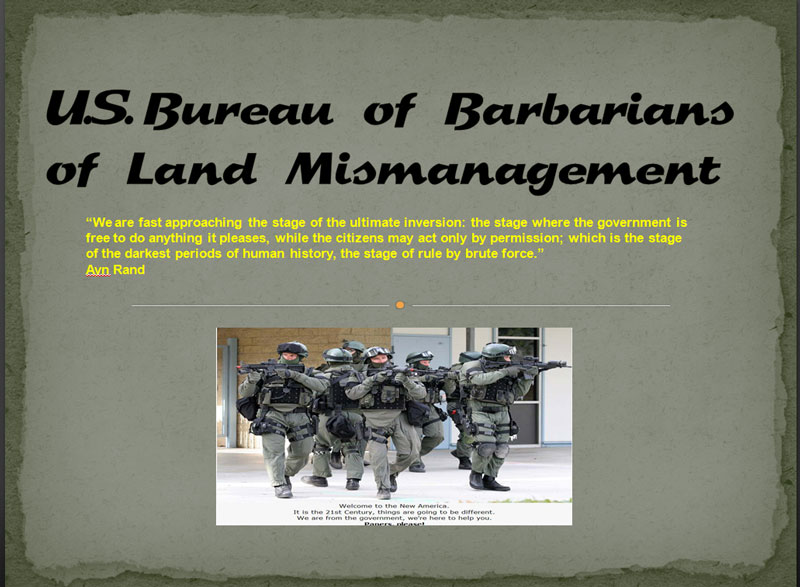 Bureau of Barbarians of Land Mismanagement