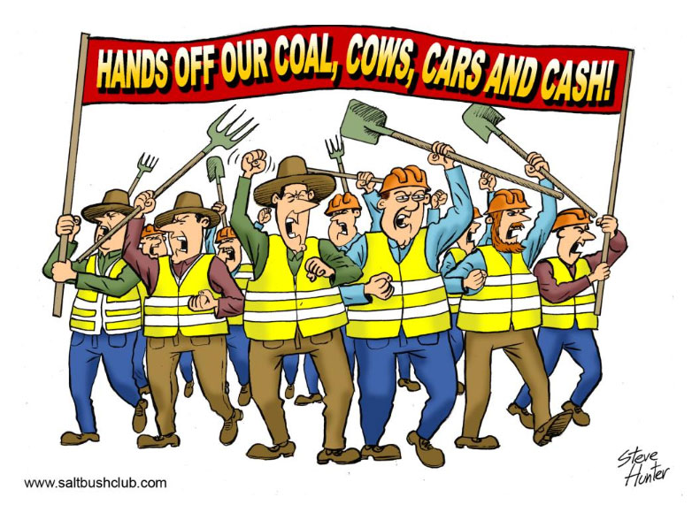 Hans Off Our Coal, Cos, Cars and Cash