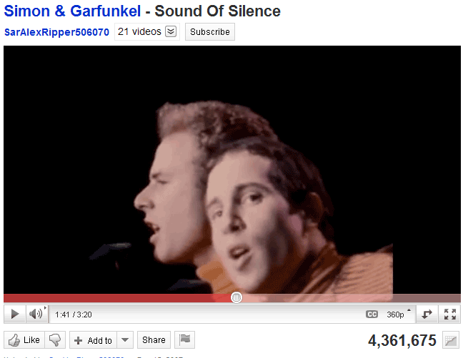 Simon & Gurfunkel Sound of Silence