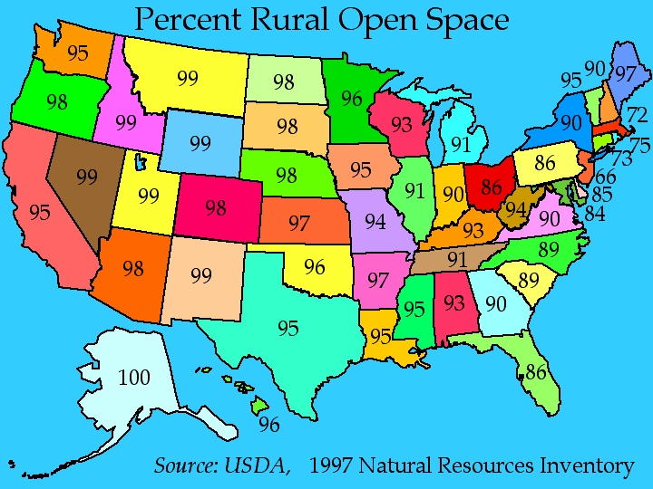 USA Open Space by State