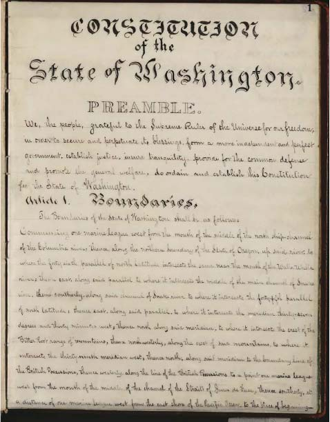 State of Washingotn 1878 Constitution