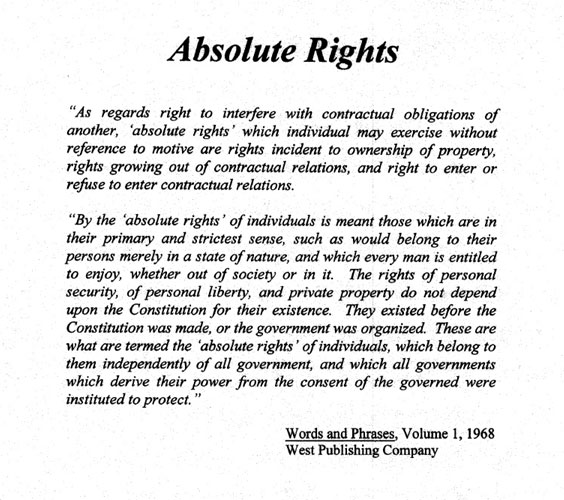 Absolute Rights Definition