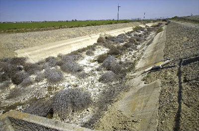 California Dry Ditch Man Made Drought