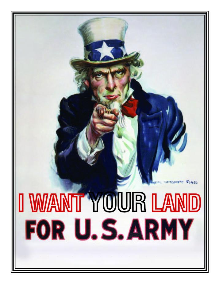 The Army Wants Your Land & Your Life