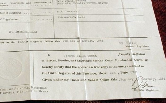 Obama Birth Certificate Image 3