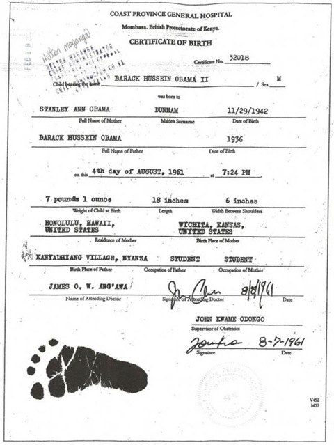 Obama Birth Certificate Image 4