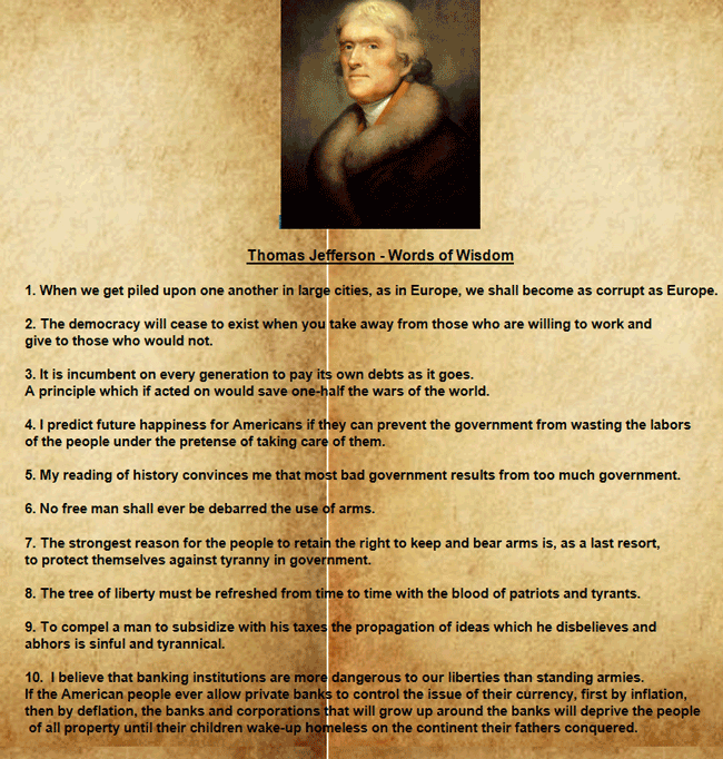 Thomas Jefferson Quotes on Parchment